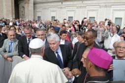 I rappresentanti della BdP dal Papa
