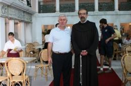 Debellini al Meeting con il Custode della Terra Santa Mons. Pierbattista Pizzaballa