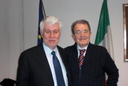 Graziano Debellini con Romano Prodi