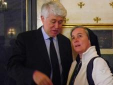 Graziano Debellini con suor Donatella Lessio (CBH)