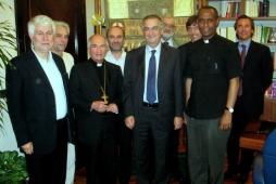 Graziano Debellini, il ministro Ornaghi, Padre Teklé Mekonnen e monsignor Silvano Tommasi