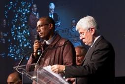 Cena Santa Lucia 2011:Padre Teklè Mekonnen e Graziano Debellini